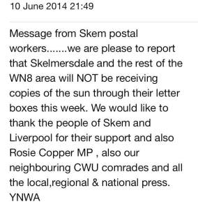 Postal Workers Won't Handle The Paper