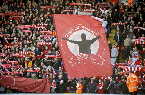 Supporters of SOS on the Kop