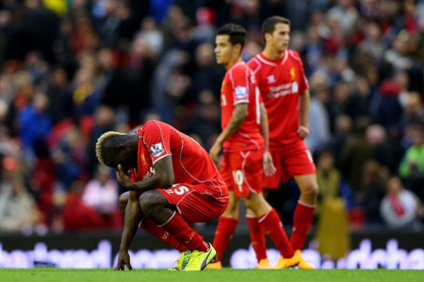 A dejected Mario Balotelli