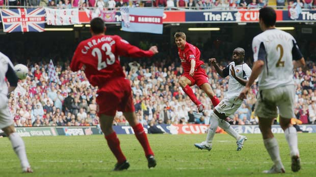 Gerrard hits last gasp equalizer in FA Cup Final against West Ham