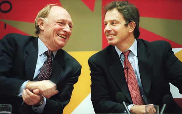 Partners in attack. Blair and Kinnock have led the right's fightback against Corbyn