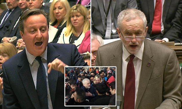 ****Ruckas Videograbs**** (01322) 861777 *IMPORTANT* Please credit the BBC for this picture. 27/01/16 Prime Minister's Questions Grabs of labour leader Jeremy Corbyn during this afternoon's PMQ's in the House of Commons Office (UK) : 01322 861777 Mobile (UK) : 07742 164 106 **IMPORTANT - PLEASE READ** The video grabs supplied by Ruckas Pictures always remain the copyright of the programme makers, we provide a service to purely capture and supply the images to the client, securing the copyright of the images will always remain the responsibility of the publisher at all times. Standard terms, conditions & minimum fees apply to our videograbs unless varied by agreement prior to publication.