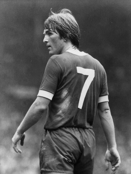 Scottish footballer and Liverpool player Kenny Dalglish at the Football Association Charity Shield match at Wembley Stadium against Manchester United.  Dalglish played for Celtic and Liverpool during his career and managed the Anfield team to three league titles. He has 102 caps for his country and scored 30 international goals, both unique achievements in Scottish football.   (Photo by Central Press/Getty Images)